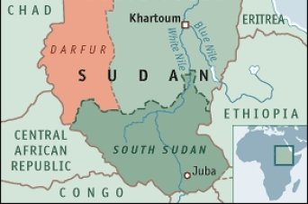 Mapa general Sudán